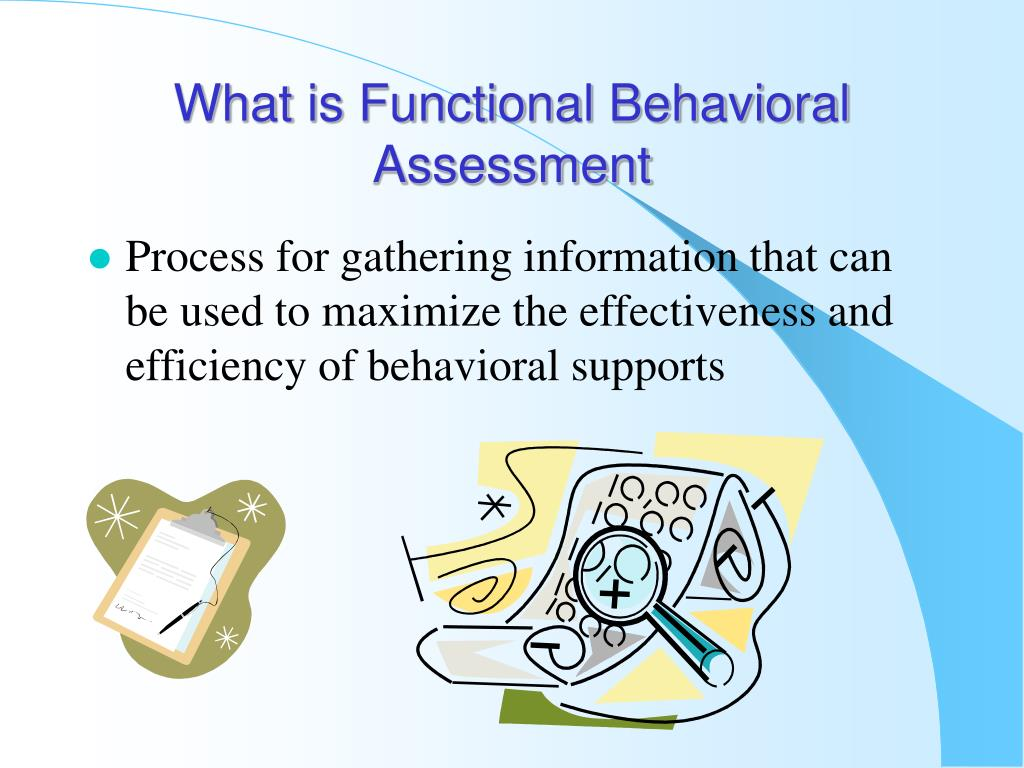 example of functional assessment in childcare