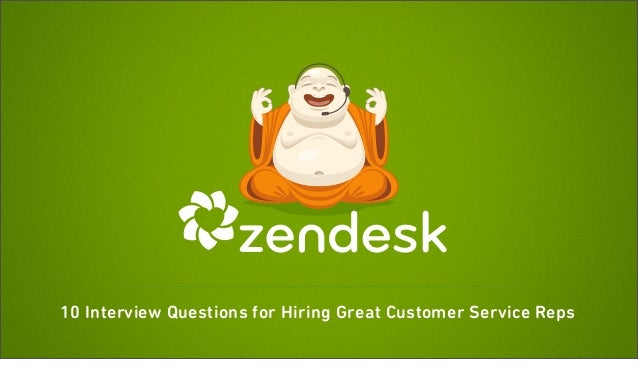 example of great customer service interview question