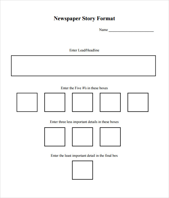 example template of a news report
