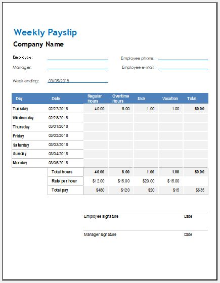 payroll number on payslip example