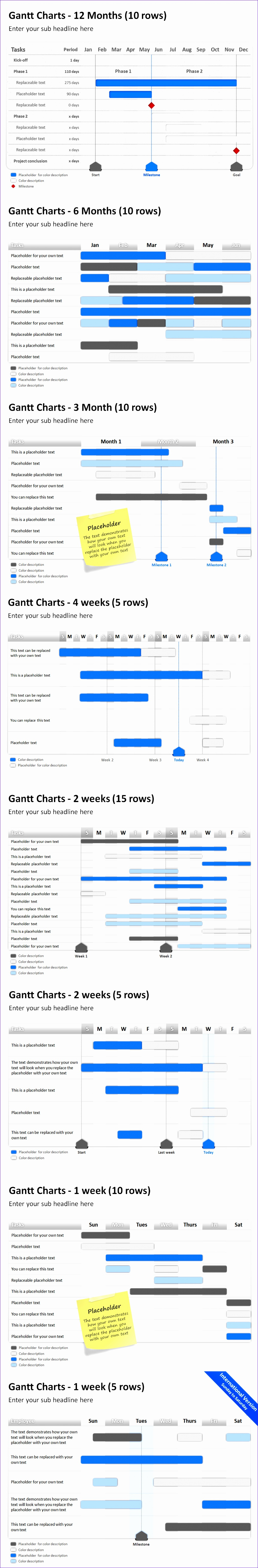 gantt chart example for project in housekeeping