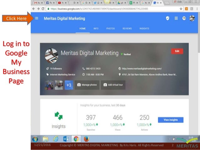 google my business profile photo example