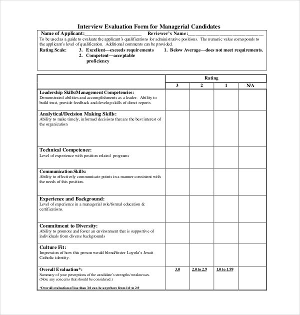 report on skills used in interview example