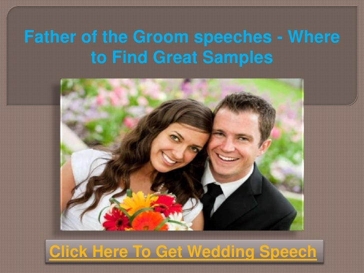 response by the parents of the groom speech example