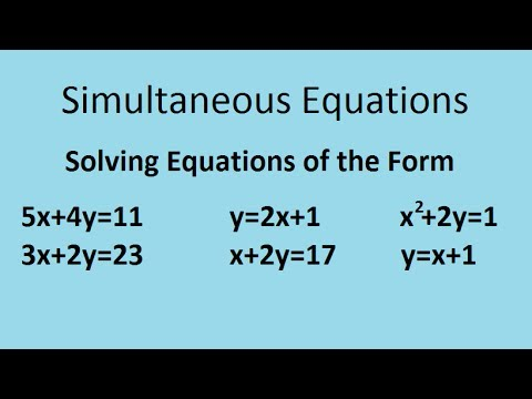 simultaneous equations substitution method example 1 examsolutions